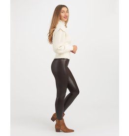 Spanx Faux Leather Croc Shine Legging Brown/Black