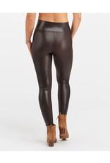 Spanx Faux Leather Croc Shine Legging Brown/Black