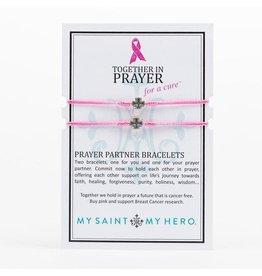 MSMH Prayer Partner Bracelet - Pink/Silver