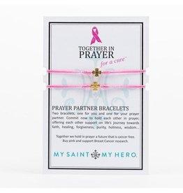 MSMH Prayer Partner Bracelet - Pink/Gold