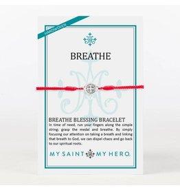 MSMH Breathe Blessing Bracelet - Red/Silver