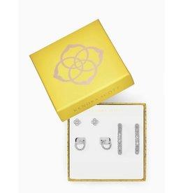 Kendra Scott Gift Set 3 Maggie Earrings on Silver