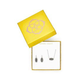 Kendra Scott Gift Set Elisa & Lee Plat Drusy on Silver