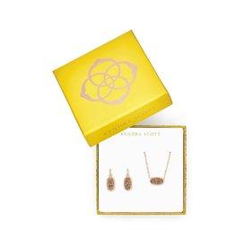 Kendra Scott Gift Set Elisa & Lee Rose Gold Drusy on Rose Gold