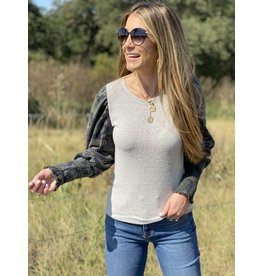 Grey Top w/Camo Thermal Sleeve