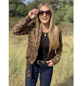 Buddy Love Cicely Leopard Corduroy Biker Jacket