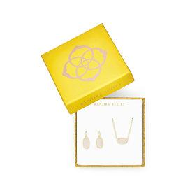 Kendra Scott Gift Set Elisa & Lee Iridescent Drusy on Gold