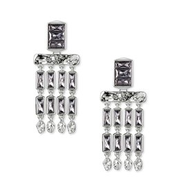 Kendra Scott Jack SM Statement Earring in Smoky Crystal Mix on Silver