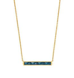 Kendra Scott Jack Short NecklaceTeal Crystal in Vintage Gold