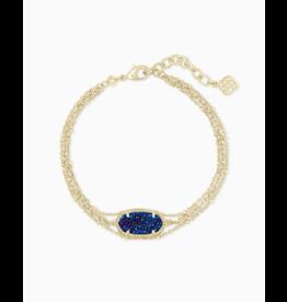 Kendra Scott Multi Strand Bracelet in Blue Drusy on Gold