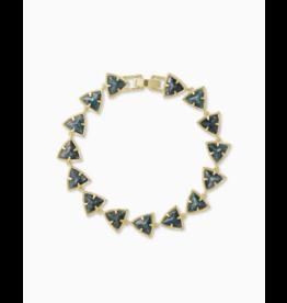 Kendra Scott Perry Bracelet Gold Green Apatite