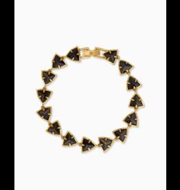 Kendra Scott Perry Bracelet V. Gold Golden Obsidian