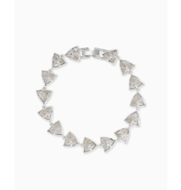 Kendra Scott Perry Bracelet Silver Gray Illusion