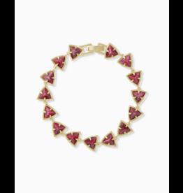 Kendra Scott Perry Bracelet Gold Raspberry Labrodite