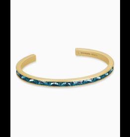 Kendra Scott Jack Cuff Bracelet Gold Teal Crystal