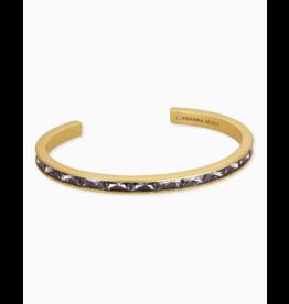 Kendra Scott Jack Cuff Bracelet Vin Gld Charcoal Gray Crystal
