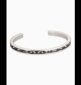 Kendra Scott Jack Cuff Bracelet Silver Gray Crystal