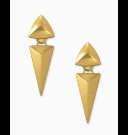 Kendra Scott Vivian Statement Earring in Vintage Gold Metal