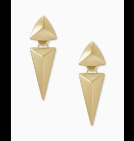 Kendra Scott Vivian Statement Earring in Gold Metal
