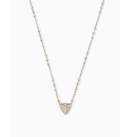 Kendra Scott Perry Short  Necklace Rhodium Metal on Silver