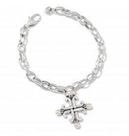 Brighton Taos Pearl Cross Bracelet