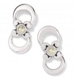 Brighton Taos Pearl Cross Drop Earrings