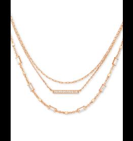 Kendra Scott Addison 3- Strand Necklace in Rose Gold