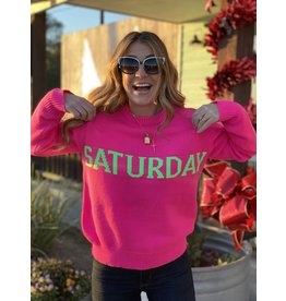 Saturday Neon Pink Sweater