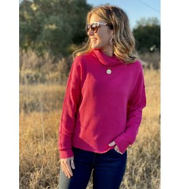 Hot Pink Turtle Neck Sweater