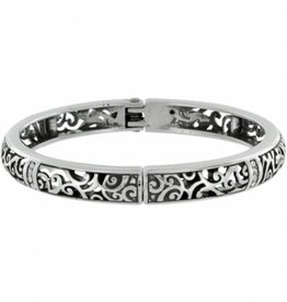 Brighton Silver Viewpoint Hinged Bangle