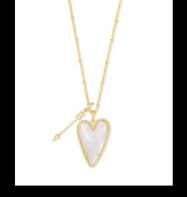 Kendra Scott Ansley Long Necklace Gold Ivory MOP