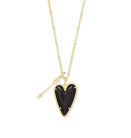 Kendra Scott Ansley Long Necklace Golden Obsidian