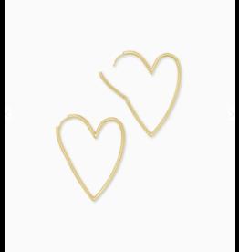 Kendra Scott Ansley Hoop Earring Gold