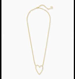 Kendra Scott Ansley Heart Pendant Necklace Gold