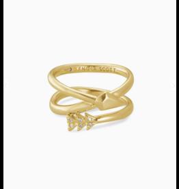 Kendra Scott Zoey Wrap Ring Gold