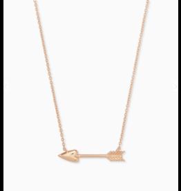 Kendra Scott Zoey Pendant Necklace Rose Gold