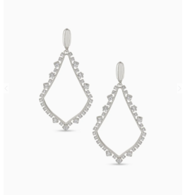 Kendra Scott Sophee Crystal Clip-On Drop Earrings in Silver