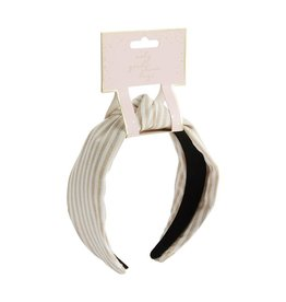 Taupe Stripe Knotted Headband