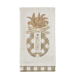 Welcome Applique Pineapple Towel