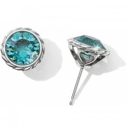 Brighton Light Turquoise Iris Stud Earrings