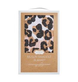 Leopard Muslin Swaddle Blanket