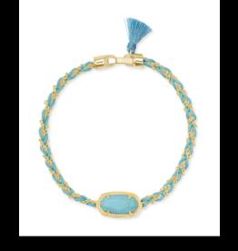 Kendra Scott Elaina Braided Bracelet Gold LT Blue Magnesite