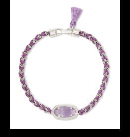 Kendra Scott Elaina Braided Bracelet Silver Purple Amethyst