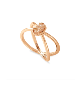 Kendra Scott Emilie Double Band Ring RG Sand Drusy