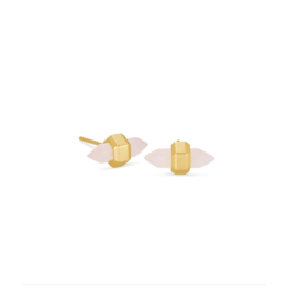 Kendra Scott Jamie Stud Earring Gold Rose Quartz