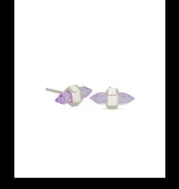 Kendra Scott Jamie Stud Earring Gold Purple Amethyst