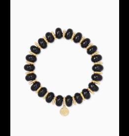 Kendra Scott Rebecca Stretch Bracelet Gold Black Agate