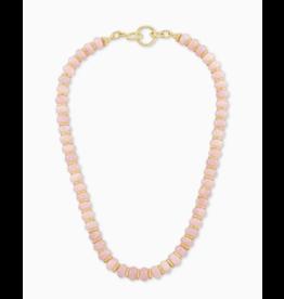 Kendra Scott Rebecca Strand Necklace Gold Rose Quartz
