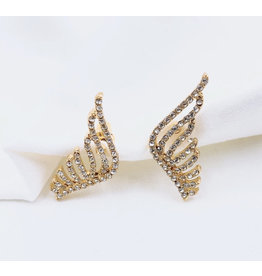 Treasure Jewels Crystal Mini Wing Earrings