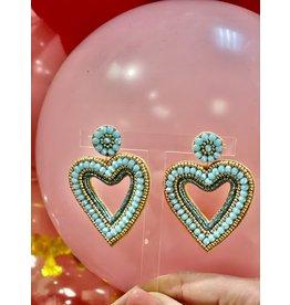 Treasure Jewels Blue Heart Earrings